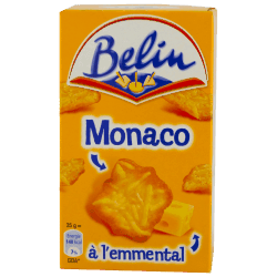 Belin : Monaco : Crackers à l'emmental : 100g