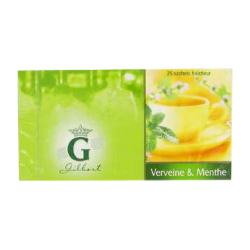 Gilbert : infusion verveine menthe : Infusion : 25 sachets