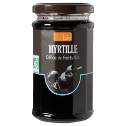 Vitabio : myrtille Delices de fruits bio: Blueberry organic jam : 290g